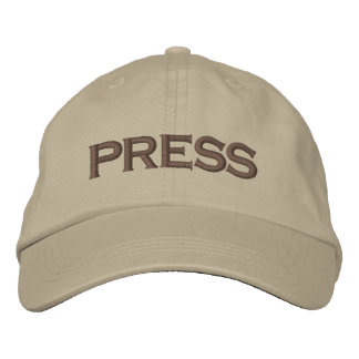 Press Embroidered Baseball Cap / Baseball Hat