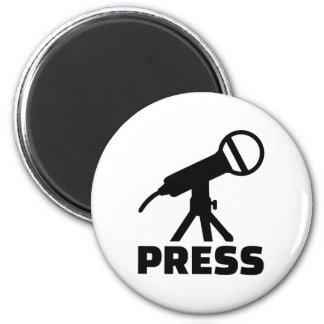 Press microphone 2 inch round magnet
