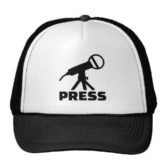 Press microphone trucker hat