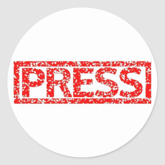 Press Stamp Classic Round Sticker