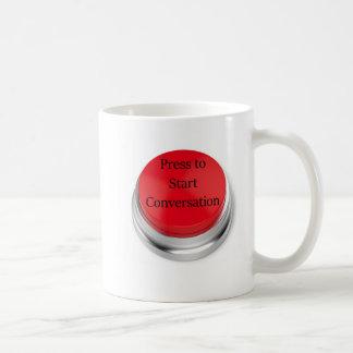Press to Start Conversation Coffee Mug