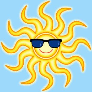 Presse-papiers Sun de Lunettes de soleil-port de sourire drôle 2f03f8980030