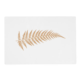 Pressed Botanical Fern Leaf - Mix and Match Color Laminated Placemat