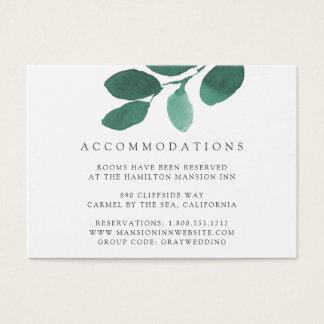 Pressed Botanical Hotel Accommodation Cards
