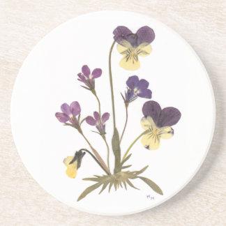 Pressed Flower Design Coaster