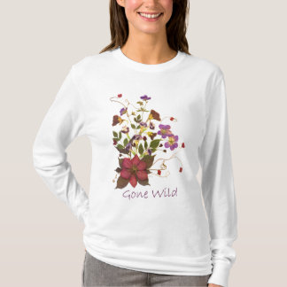 Pressed Flower Tank - Clematis