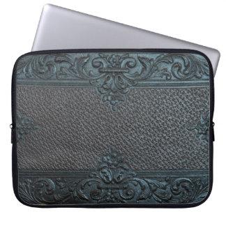 pressed leather sculpture furniture vintage floral laptop sleeves