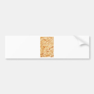Pressed wood bumper sticker