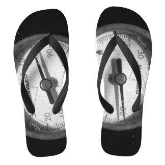 Pressure Gauge Photograph On Flip Flops