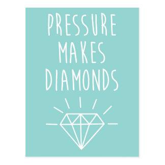 Pressure Makes Diamonds Quote Postcard