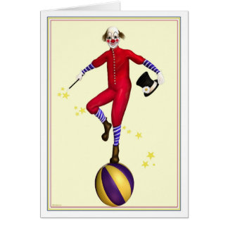 Presto The Clown Birthday Card
