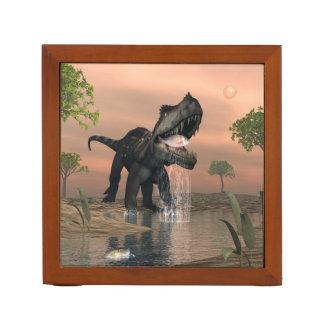 Prestosuchus dinosaur fishing - 3D render Desk Organizer