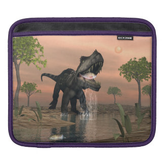 Prestosuchus dinosaur fishing - 3D render iPad Sleeve