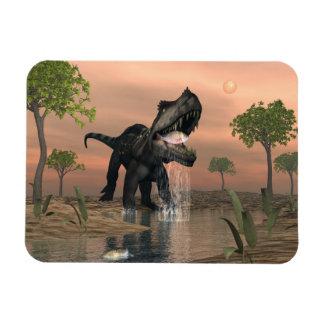 Prestosuchus dinosaur fishing - 3D render Magnet