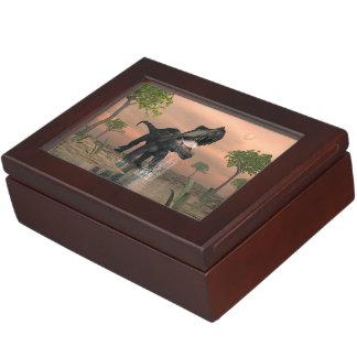 Prestosuchus dinosaur fishing - 3D render Memory Boxes