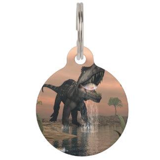 Prestosuchus dinosaur fishing - 3D render Pet Tag