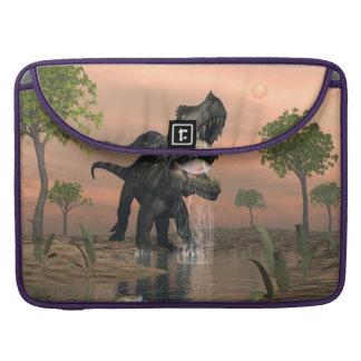 Prestosuchus dinosaur fishing - 3D render Sleeve For MacBooks