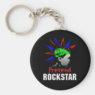 Pretend Rockstar Keychain