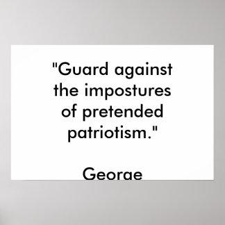 pretended patriotism poster