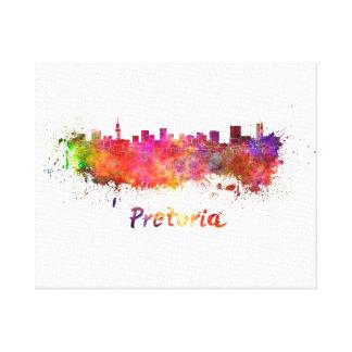 Pretoria skyline in watercolor canvas print