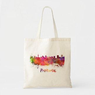 Pretoria skyline in watercolor tote bag