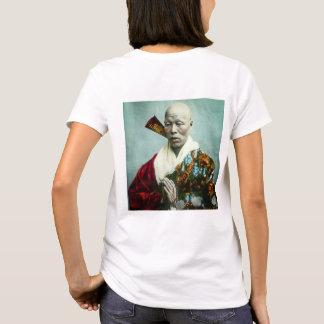 Prêtre vintage de Shinto de Japonais priant le T-shirt