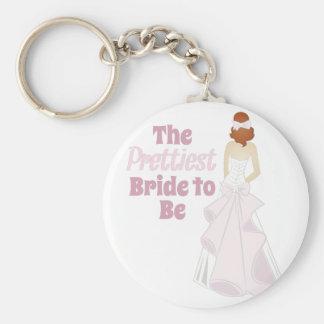 Prettiest Bride Basic Round Button Keychain