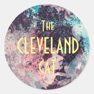 Prettty Pink Splash The Cleveland Cat Sticker
