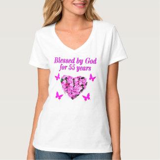 PRETTY 55TH BIRTHDAY FLORAL T-Shirt
