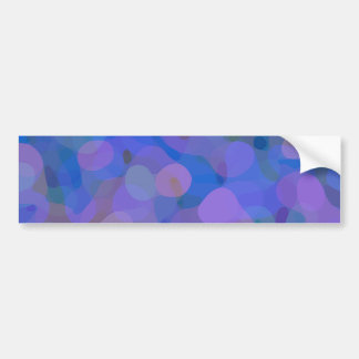 Pretty Abstract in Blue, Purple, and Green Bumper Sticker