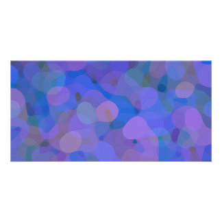 Pretty Abstract in Blue, Purple, and Green Photo Greeting Card