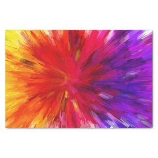 Pretty Abstract Multicolored Starburst Tissue Paper
