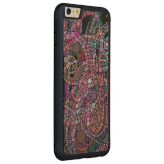 Pretty Abstract Trails Carved Maple iPhone 6 Plus Bumper Case