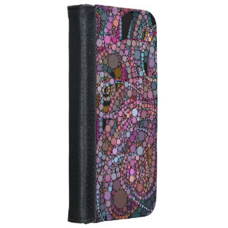 Pretty Abstract Trails iPhone 6 Wallet Case
