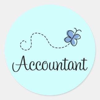 Pretty Accountant Round Sticker