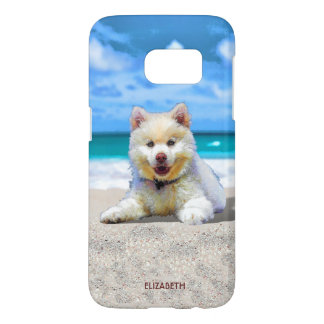 Pretty Adorable Small Puppy Drawing Samsung Galaxy S7 Case