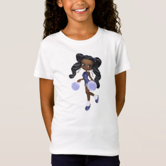 Pretty African American Cheerleader Baby Doll T-Shirt