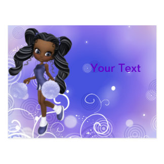 Pretty African American Cheerleader Postcard