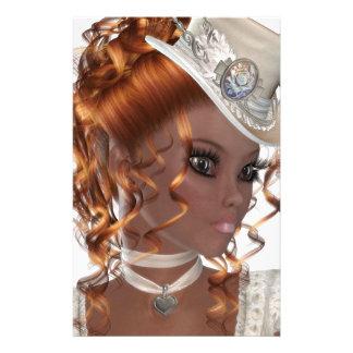 Pretty African American Woman Custom Stationery