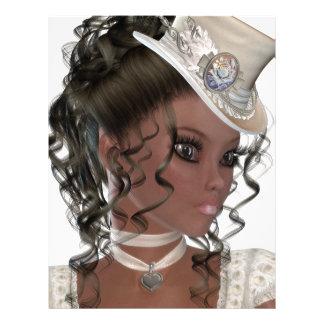Pretty African American Woman Customized Letterhead