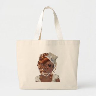 Pretty African American Woman Large Tote Bag