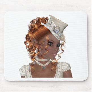 Pretty African American Woman Mouse Pad