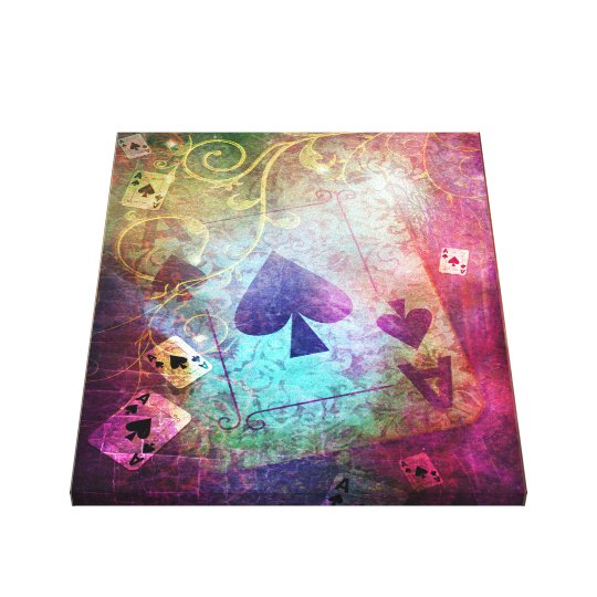 Pretty Alice in Wonderland Inspired Ace of Spades Canvas Print
