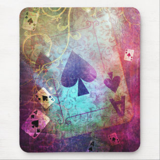 Pretty Alice in Wonderland Inspired Ace of Spades Mouse Pad