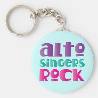 Pretty Alto Singers Rock Gift Keychain