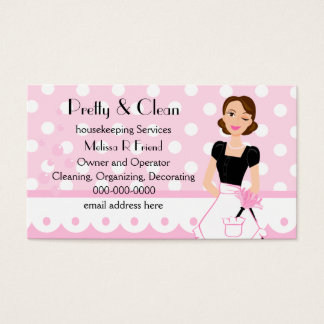 Pretty And Clean Business Card