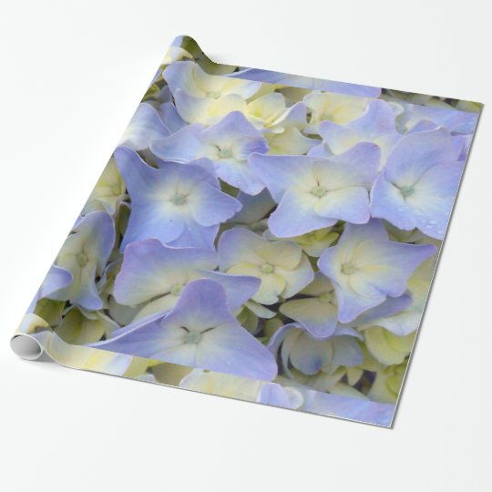 Pretty and Colourful Light Blue Hydrangea Flowers Wrapping Paper