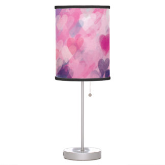 Pretty and Pink Love Valentine Heart Chic Whimsy Table Lamp