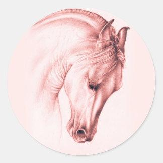 Pretty Andalusian Horse Classic Round Sticker