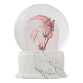 Pretty Andalusian Horse Snow Globe
